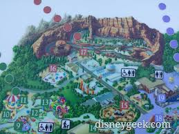 Disney Downtown Map Disney California Adventure Braille Map Has The Roadsters Also