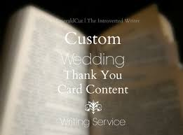 Words For Wedding Thank You Cards Custom Wedding Thank You Card Content Writing Service Help With