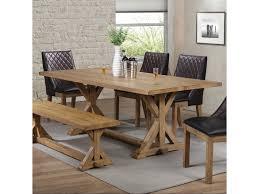 french farmhouse dining table coaster douglas 107221 french farmhouse dining table with trestle