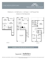 Cascade Floor Plan Floor Plans U2014 Wasatch Springs