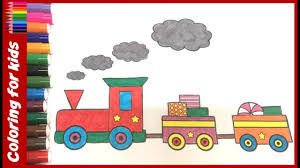 coloring pages color candy train coloring pages kids
