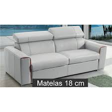 canapé convertible couchage journalier canapé lit rapido en cuir avec matelas 18 cm verysofa renoir