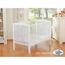 chambre bébé modulable lit bébé évolutif blanc en osier lit pour enfant pas cher