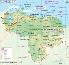 Map Of Spain And France by Venezuela Map Map Of Venezuela