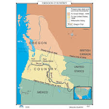 map of oregon country 1846 history map 021 oregon country