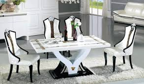 table and 6 chair set marble dining 1 table and 6 chairs warehouse direct bargain