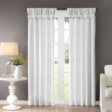 White Silk Curtains Buy White Tab Top Curtains From Bed Bath Beyond