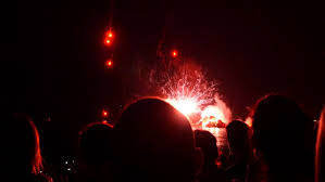 filming and taking pictures of fireworks display beautiful