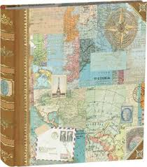 travel photo album world maps collage photo album 200 pockets punch studios