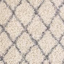 Area Rugs Dallas Tx by Bostrom Modern Moroccan Trellis Ivory Grey Shag Area Rug U0026 Reviews