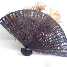 wooden fans folding held hollow flower carved fan home decor pocket wood