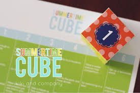 summertime cube and activities free printable summer c link