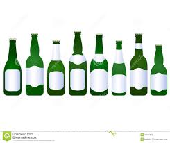 set of beer bottles with blank label stock vector image 35662852