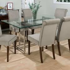 glass dining room table tops dining room with parson chairs and glass table top cleaning ways