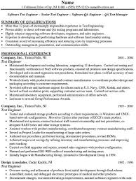 Resume For Software Testing Experience Sample Resume Software Tester Resume Software Sample Software