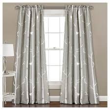 Window Curtain Decor Bird On The Tree Room Darkening Window Curtain Set Lush Décor