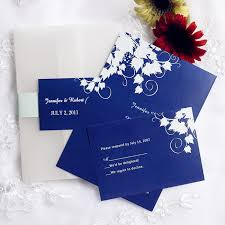 simple royal blue pocket wedding invites with rsvp cards ewpi060