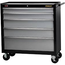 rolling tool storage cabinets stanley 40 5 drawer rolling tool cabinet walmart com