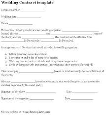 wedding planning contract templates fill online sample wedding