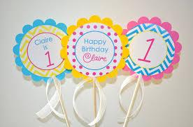 Birthday Decorations For Girls 3 Girls Birthday Centerpiece Sticks Chevron Birthday Decorations