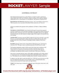 janitorial services contract janitorial contract with sample