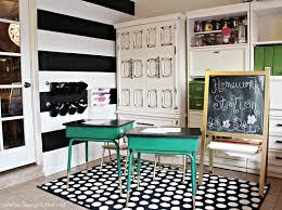 kids homework station diy homework and art station