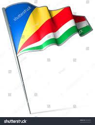 Crossed Flag Pins Flag Pin Seychelles Stock Illustration 28670392 Shutterstock