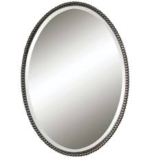 beaded oval mirror mirror mirror vanities and walls