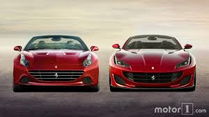 ferrari ferrari portofino vs california t see the changes side by side