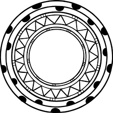 shapes coloring page aztec circle shape coloring page wecoloringpage