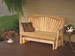 glider bench amish furniture handcrafted glider bench