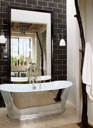 big bathroom mirror trend in real interiors