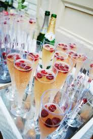 brunch wedding petal ice cubes in champagne bucket photo