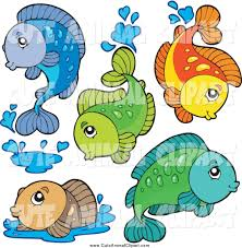vector cartoon clip art of cute fresh water fish by visekart 1234