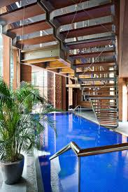 indoor pool stairs sophisticated house near moscow by olga freiman