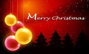 a christmas card template with sparkling balls vector free download