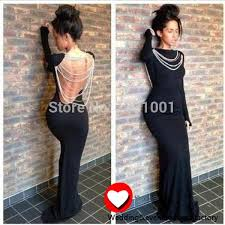 aliexpress com buy vestido sereia longo black long sleeve