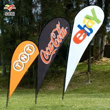 Flag Displays 3 5m Flag Banner For Trade Show Exhibition Display Fabric Feather