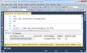 how to create temp table in sql can a temp table name cause plan cache bloat sqlity net