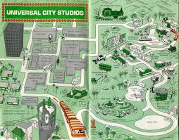 Universal Studios Map Orlando by 1966 Universal Studios Guide Map Universal City California U2022 Mappery