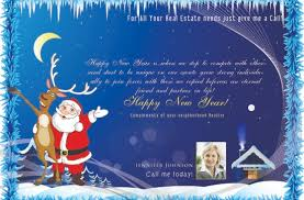 real estate new years cards power real estate marketing new year postcards santa and