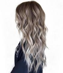 silver brown hair brown hair with blonde balayage highlights women hair color ideas