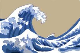how to draw japanese waves drawingnow