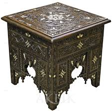 Moroccan Side Table Mediterranean Levantine U0026 Syrian Furniture Inlaid With Mother Of