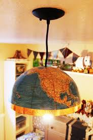 World Globe Light Fixture by Diy Globe Pendant Light A Quick And Easy Lighting Upgrade