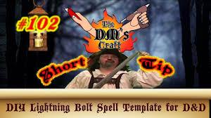 diy lightning bolt spell template for d u0026d dm u0027s craft short tip