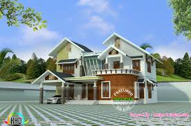 modern mix roof house design in 2400 sq ft kerala home design