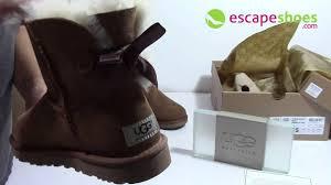 s ugg australia mini bailey bow boots ugg australia mini bailey bow chestnut 1005062 chec
