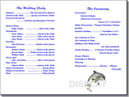 wedding program templates unique wedding programs templates wally designs