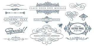 free vector ornaments and frames design inspiration